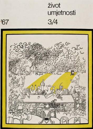 Život umjetnosti, 3-4, 1967, naslovnica / cover