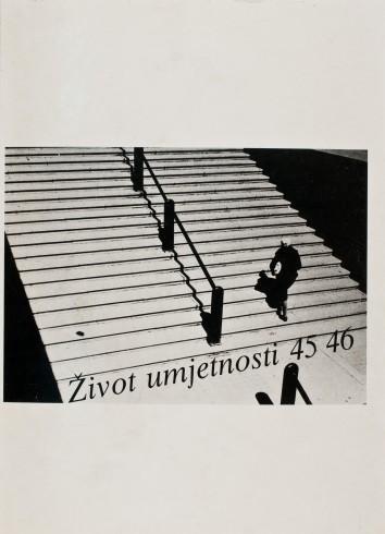 Život umjetnosti, 45-46, 1989, naslovnica / cover