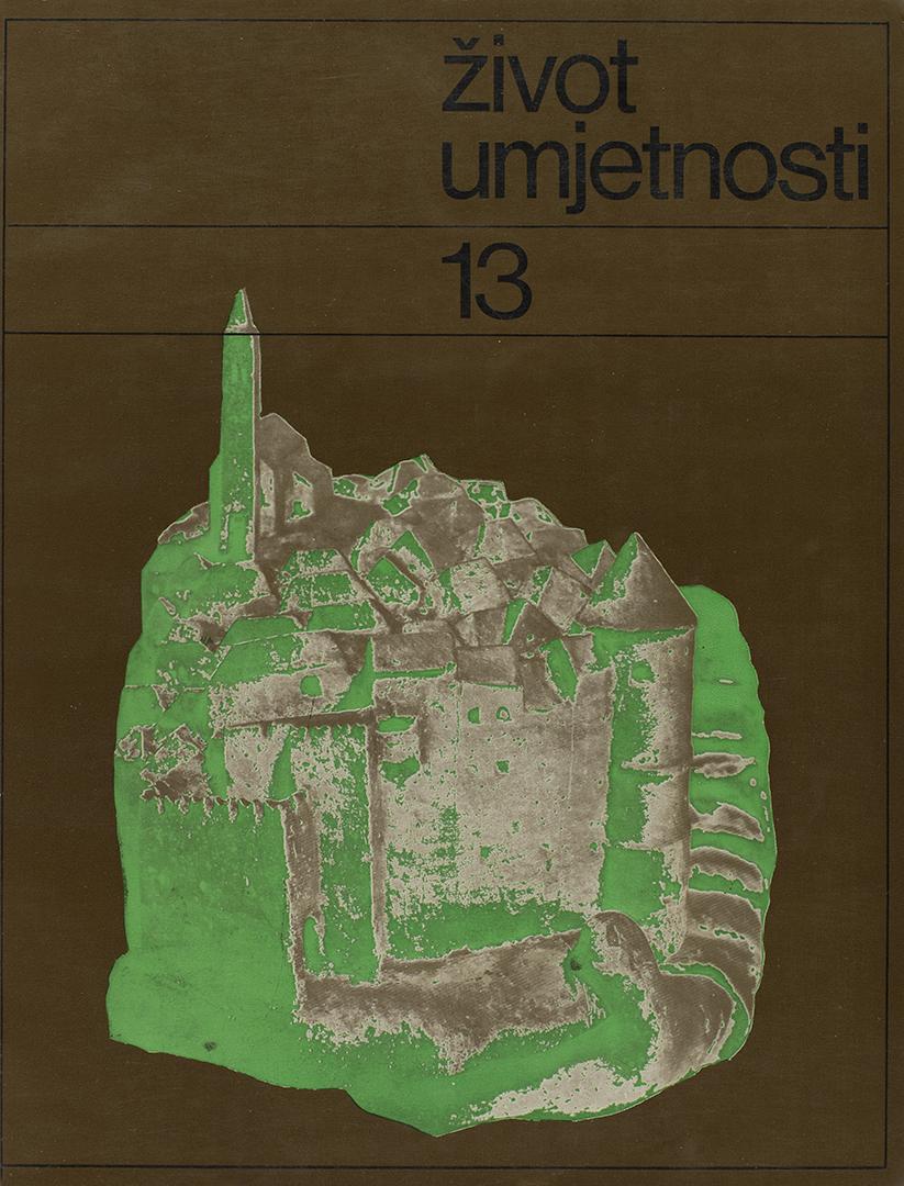 Život umjetnosti, 13, 1971, naslovnica / cover