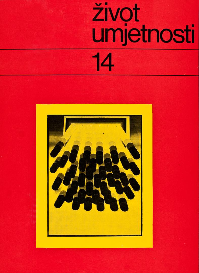 Život umjetnosti, 14, 1971, naslovnica / cover