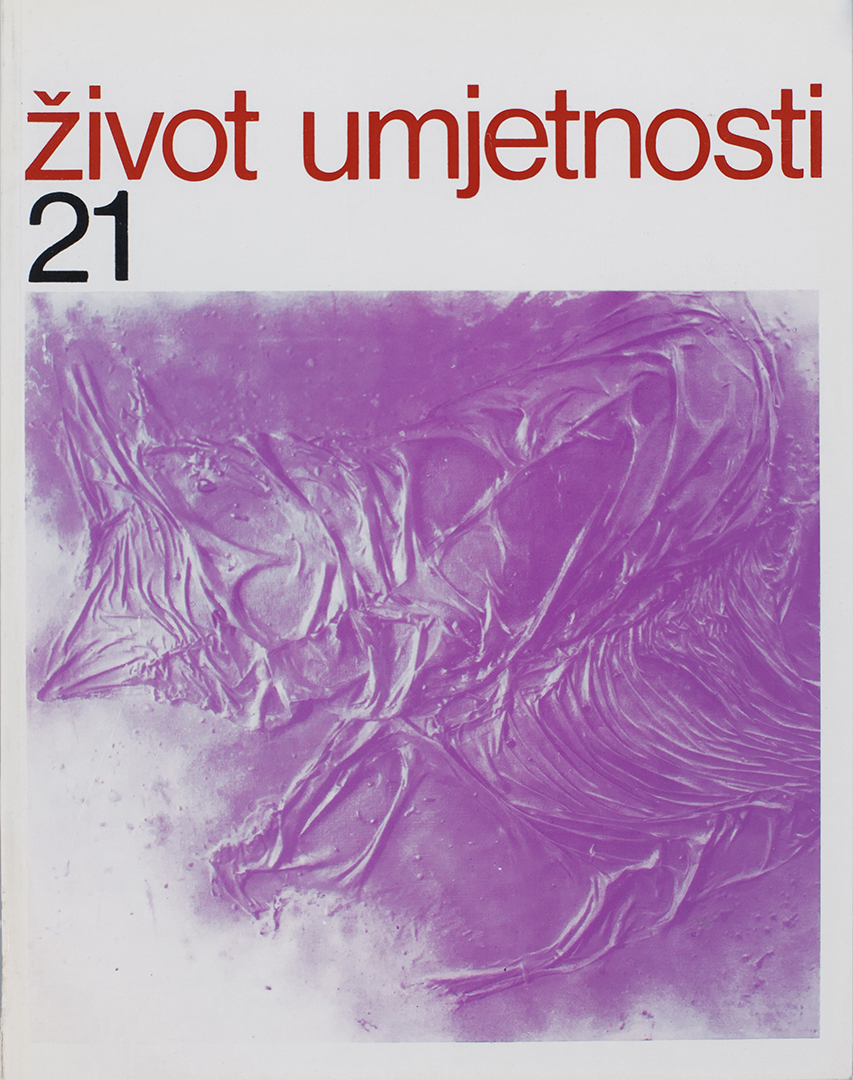 Život umjetnosti, 21, 1974, naslovnica / cover