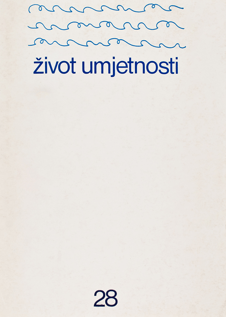 Život umjetnosti, 28, 1979, naslovnica / cover