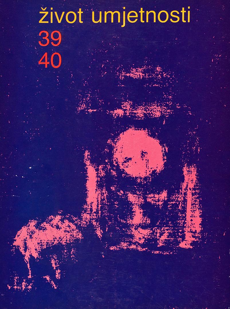 Život umjetnosti, 39-40, 1985, naslovnica / cover