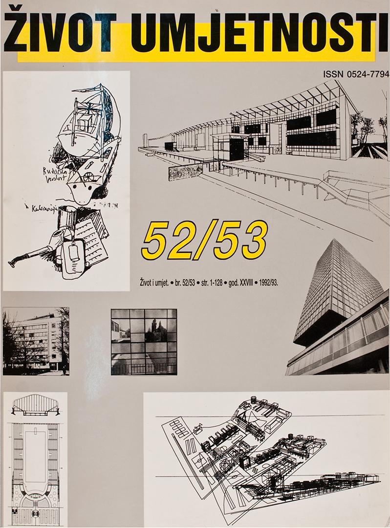 Život umjetnosti, 52-53, 1992-1993, naslovnica / cover