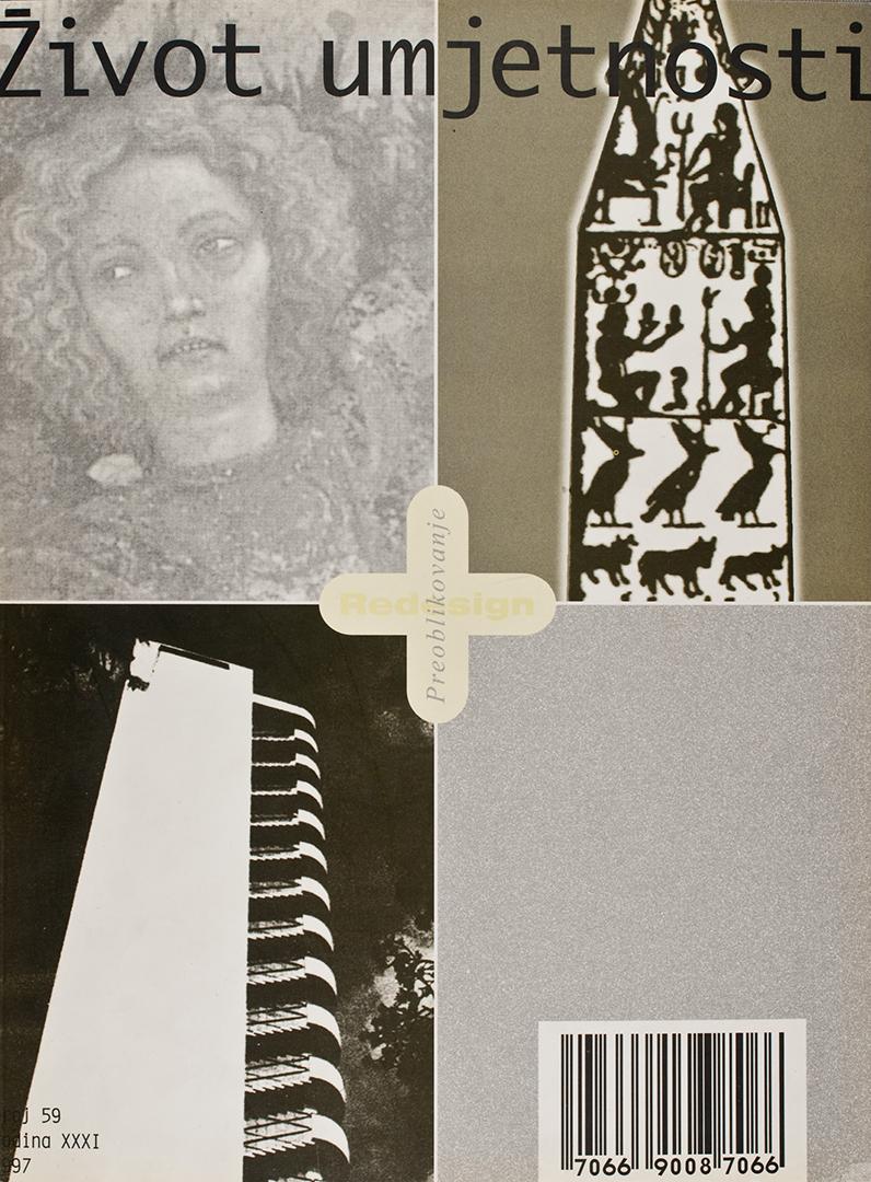Život umjetnosti, 59, 1997, naslovnica / cover