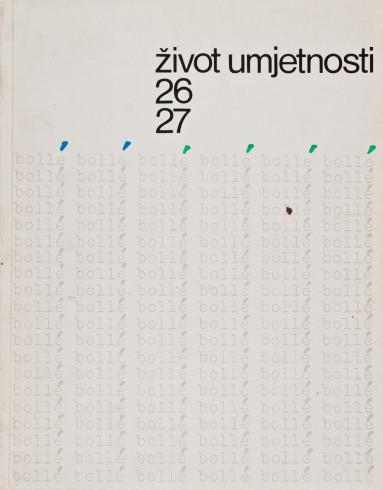 Život umjetnosti, 26-27, 1978, naslovnica / cover