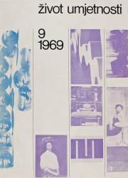 Život umjetnosti, 9, 1969, naslovnica / cover