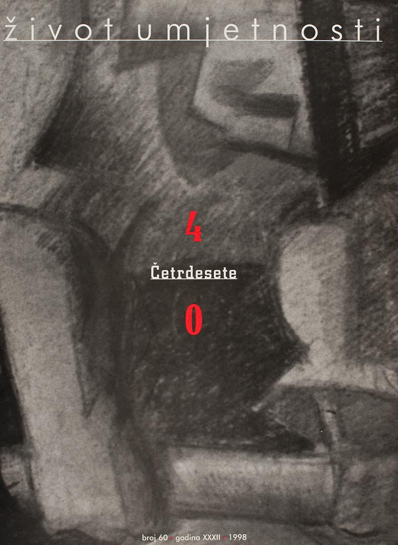 Život umjetnosti, 60, 1998, naslovnica / cover